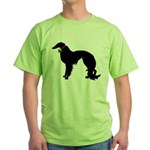 Christmas or Holiday Irish Setter Silhouette Green