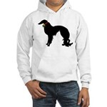 Christmas or Holiday Irish Setter Silhouette Hoode