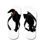 Christmas or Holiday Irish Setter Silhouette Flip