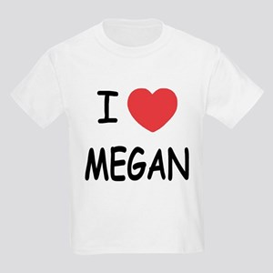 I heart megan Kids Light T-Shirt