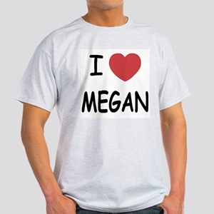 I heart megan Light T-Shirt