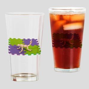 GymMatStretch112809 copy Drinking Glass