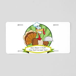 Turkey Butt Aluminum License Plate
