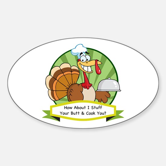 Turkey Butt Sticker (Oval)
