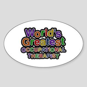 World's Greatest OCCUPATIONAL THERAPIST Oval Stick