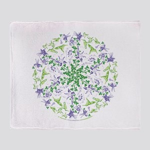 Hummingbird Spin - Throw Blanket