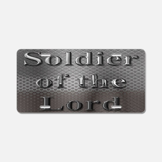 Soldier of the Lord Aluminum License Plate
