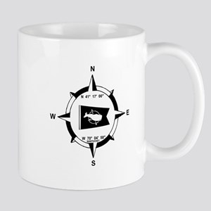 Nantucket MA - Compass Design Mug