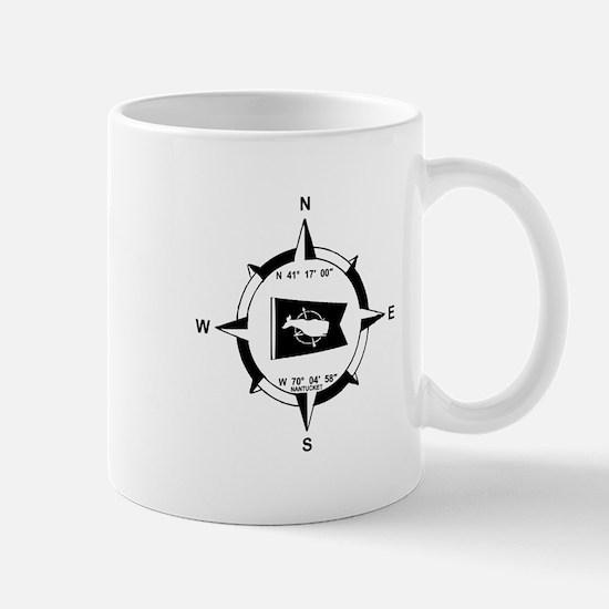 Nantucket MA - Compass Design Mug