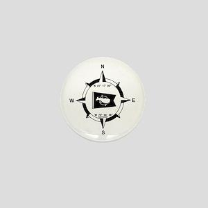Nantucket MA - Compass Design Mini Button
