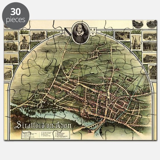Vintage Stratford Map Puzzle