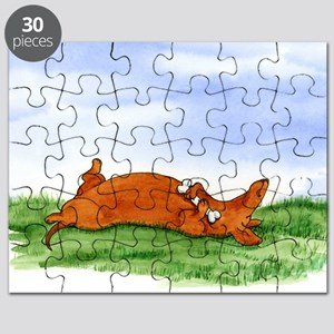 Happy Dachshund (red) Puzzle