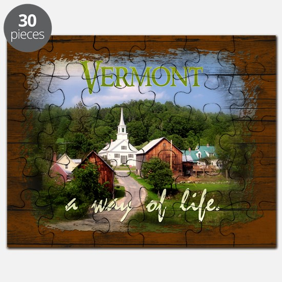 Vermont A Way of Life Puzzle