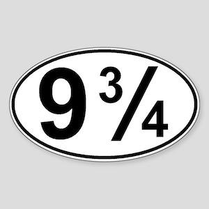 9 3/4 Sticker (Oval)