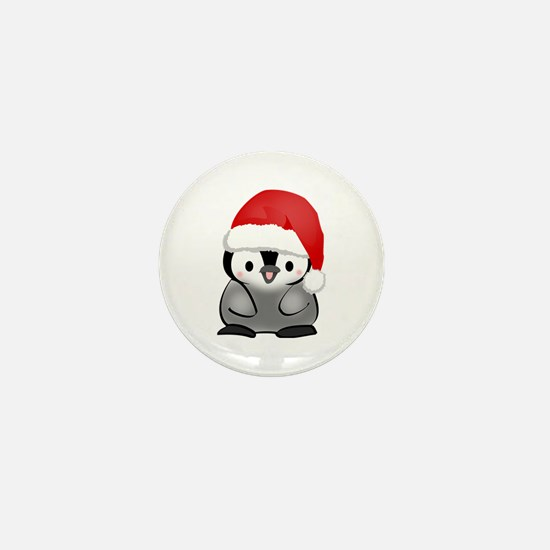 Cute Holiday Penguin Mini Button (10 pack)