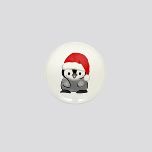 Cute Holiday Penguin Mini Button