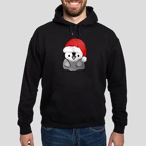 Cute Holiday Penguin Hoodie (dark)