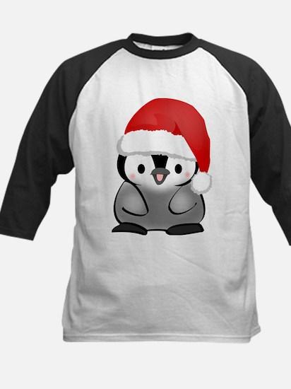 Cute Holiday Penguin Kids Baseball Jersey
