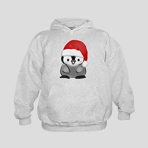 Cute Holiday Penguin Kids Hoodie