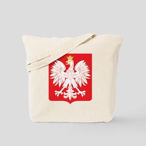 Polish Eagle Red Shield Tote Bag