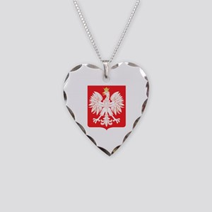 Polish Eagle Red Shield Necklace Heart Charm
