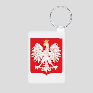 Polish Eagle Red Shield Aluminum Photo Keychain