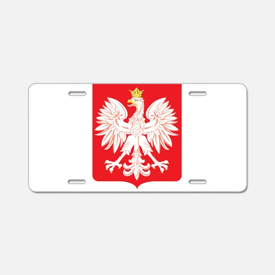 Polish Eagle Red Shield Aluminum License Plate