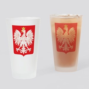 Polish Eagle Red Shield Drinking Glass