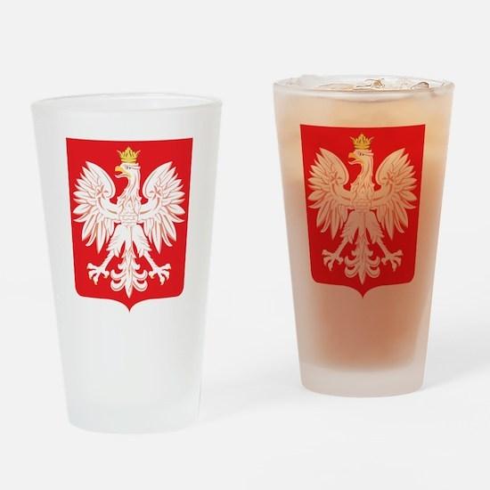 Polish Eagle Red Shield Drinking Glass