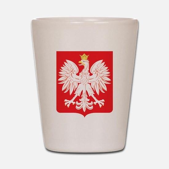 Polish Eagle Red Shield Shot Glass