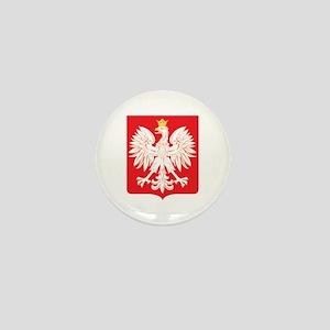 Polish Eagle Red Shield Mini Button