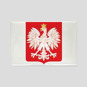 Polish Eagle Red Shield Rectangle Magnet