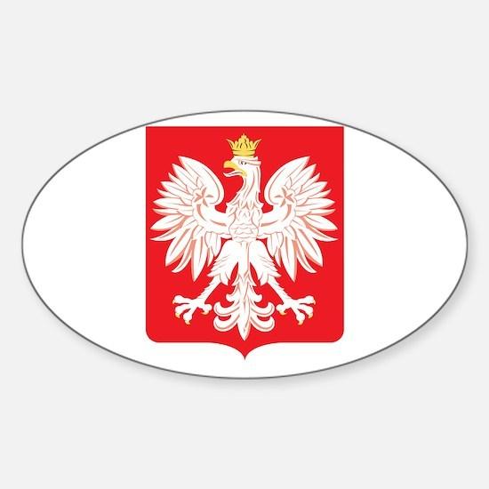 Polish Eagle Red Shield Sticker (Oval)