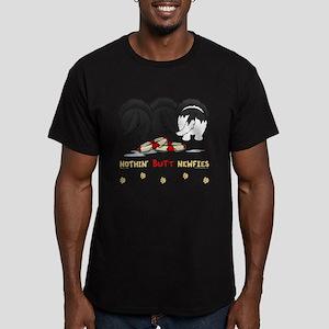 Nothin' Butt Newfies Men's Fitted T-Shirt (dark)