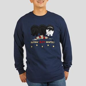 Nothin' Butt Newfies Long Sleeve Dark T-Shirt