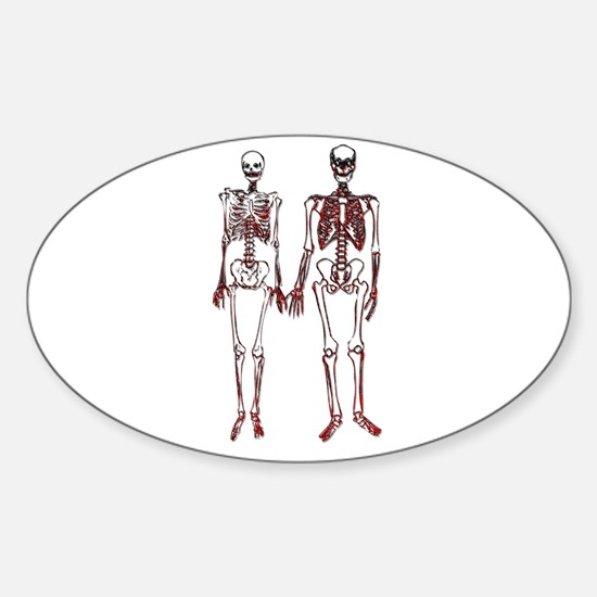 Cute Couples costume Sticker (Oval)