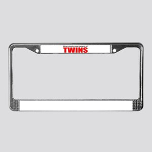 twins, sane parents License Plate Frame