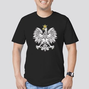 Polish Eagle With Gold Crown Men's Fitted T-Shirt