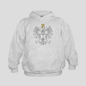 Polish Eagle With Gold Crown Kids Hoodie