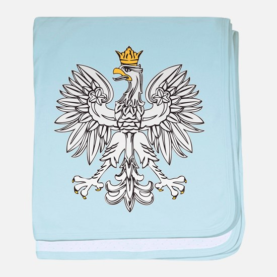 Polish Eagle With Gold Crown baby blanket
