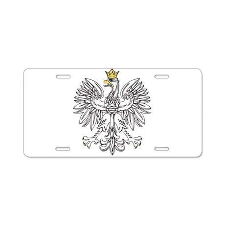 Polish Eagle With Gold Crown Aluminum License Plat by