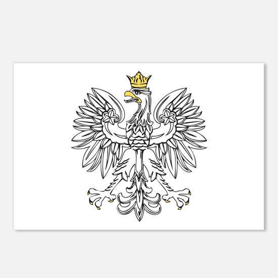 Polish Eagle With Gold Crown Postcards (Package of
