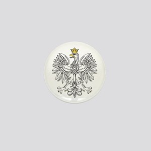 Polish Eagle With Gold Crown Mini Button