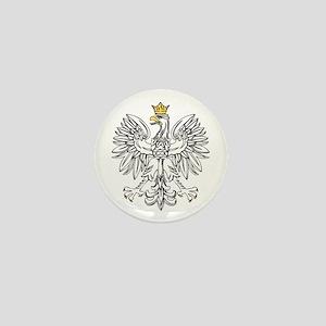 Polish Eagle With Gold Crown Mini Button