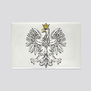 Polish Eagle With Gold Crown Rectangle Magnet