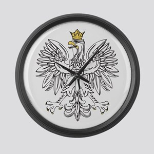 Polish Eagle With Gold Crown Large Wall Clock
