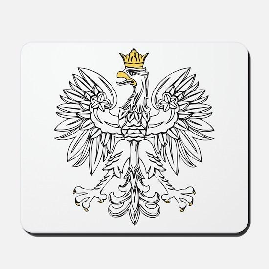 Polish Eagle With Gold Crown Mousepad