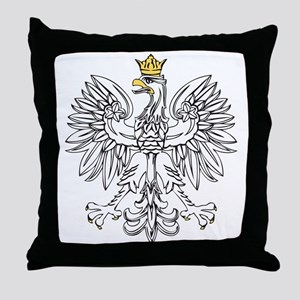 Polish Eagle With Gold Crown Throw Pillow