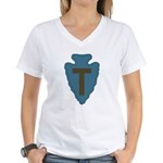 36th Infantry Women's V-Neck T-Shirt