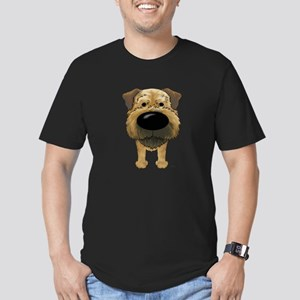 Big Nose Border Terrier Men's Fitted T-Shirt (dark